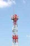 Porción de la señal del teléfono del arsenal de antena. Foto de archivo