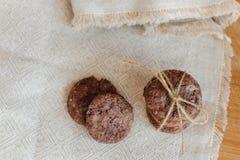 Porción de las galletas del chocolate Foto de archivo