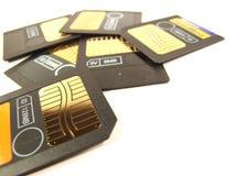 Porción de las tarjetas de memoria Foto de archivo libre de regalías
