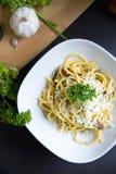 Porción de los espaguetis Fotos de archivo libres de regalías