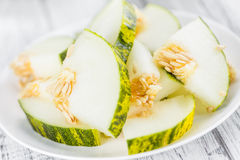 Porción de melones de Futuro Imagen de archivo
