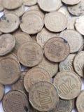 porción de monedas de 20 centavos de Pesos mexicanos, de ahorros y de la colección Imagenes de archivo