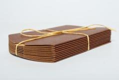 Porción de rectángulos del cartón Foto de archivo libre de regalías