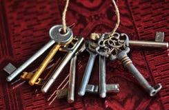 Porción de viejos claves Foto de archivo libre de regalías