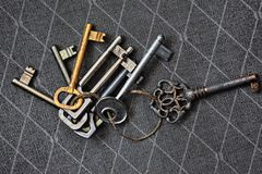 Porción de viejos claves Imagen de archivo