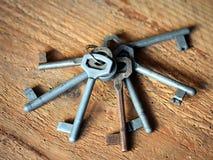 Porción de viejos claves Fotos de archivo libres de regalías