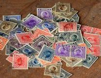 Porción de viejos sellos calificados Fotografía de archivo