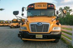 Porción del autobús escolar foto de archivo libre de regalías