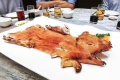 Porción del cerdo de cría delicioso en restaurante durante celebrati Fotos de archivo