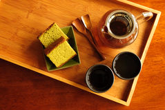 Porción del té Fotos de archivo libres de regalías