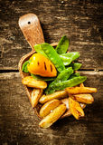 Porción lateral de verduras cocinadas deliciosas Imagen de archivo libre de regalías