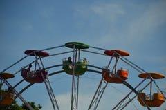Porción superior de Ferris Wheel, Portland, Oregon Imagenes de archivo
