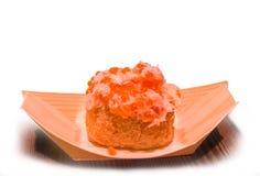 Porción tradicional de los pasteles asiáticos del caviar Fotos de archivo libres de regalías