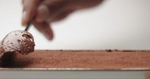 Porci czekolady lody zbiory wideo