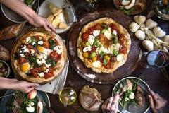 Porci pizzy fotografii przepisu karmowy pomysł zdjęcie royalty free