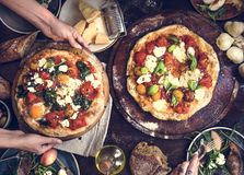 Porci pizzy fotografii przepisu karmowy pomysł obrazy stock