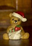 Porcilane figarines熊圣诞老人 库存照片