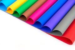 Porción de papel del color para la idea de los artes Foto de archivo libre de regalías