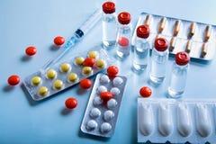 Porción de productos farmacéuticos Fotos de archivo libres de regalías