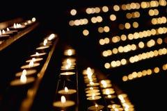 Porción de velas Imágenes de archivo libres de regalías