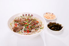 Porcine liver powder-Rice noodles. Delicious Chinese cooking soup, Chinese from Jiangxi Yanshan Stock Images