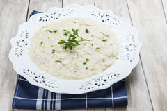Porcini Mushroom risotto Royalty Free Stock Photo
