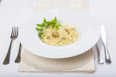 Porcini mushroom risotto Royalty Free Stock Image