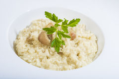Porcini mushroom risotto Royalty Free Stock Photography