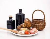 Porcini mushrooms. Natural autumnal food ingredients Royalty Free Stock Image