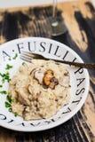 Porcini répand risotto Photo libre de droits