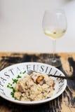 Porcini répand risotto Photo stock