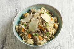 Porcini risotto. Food & Dishes for Restaurants, Cuisine of the peoples of the world, Healthy Recipes Stock Photography