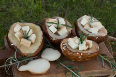 Porcini And Scamorza Stock Images