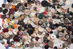 Porciones de botones dispersados imagen de archivo