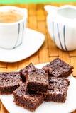 Porciones de brownie Foto de archivo