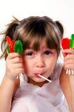Porciones de caramelo Imagen de archivo