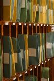 Porciones de carpetas que contienen documentos en HOL de la paloma Foto de archivo libre de regalías