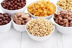 Porciones de cereales Fotos de archivo