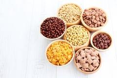 Porciones de cereales Imágenes de archivo libres de regalías