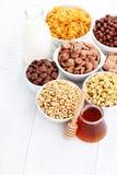 Porciones de cereales Fotografía de archivo
