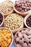Porciones de cereales Imagenes de archivo