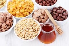 Porciones de cereales Foto de archivo libre de regalías