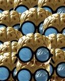 Porciones de cerebros listos stock de ilustración