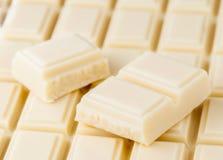 Porciones de chocolate blanco Foto de archivo libre de regalías