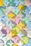 Porciones de colorear de los paraguas Foto de archivo