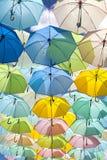 Porciones de colorear de los paraguas Fotografía de archivo