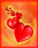 Porciones de corazones Fotos de archivo libres de regalías