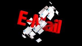 Porciones de correos electr?nicos reparto del correo Correo importante 40 stock de ilustración