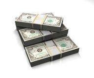Porciones de dinero Fotografía de archivo libre de regalías