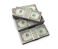 Porciones de dinero Fotos de archivo